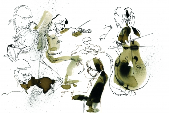 Illustrations musiciens cordes